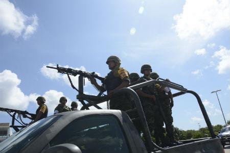 El Ejército en calles de Cancún, Qroo. | Foto: Elizabeth Ruiz / Cuartoscuro.