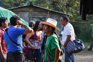 Samir Flores en el Caracol de Oventik, Chiapas, durante el 5to CNI y el 20 aniversario de los Caracoles (1 de enero de 2017). Por Dante A. Saucedo