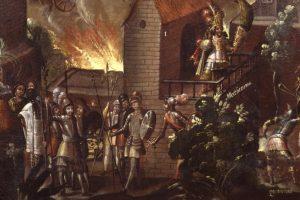 Portada-Detalle Biombo de la Conquista Siglo XVII-Imagen Marco Antonio Pacheco-Raíces-1600x-min