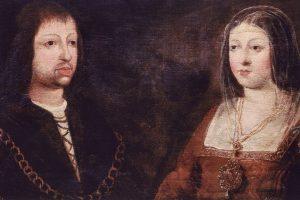 Reyes católicos Fernando II de Aragón e Isabel I de Castilla.   Autor anónimo.   Imagen vía Wikipedia.