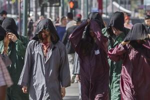 El equipo de la producción de estadounidense The Walking Dead grabó, el 17 de julio de este año, un episodio de la serie en Tijuana, Baja California Norte. | Foto: Christian Serna / Cuartoscuro.