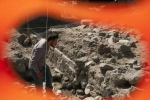 Ciudad de México; miércoles 30 de noviembre de 2016. Autoridades del INAH informaron que el equipo de trabajo del arqueólogo Eduardo Matos Moctezuma descubrió una estructura circular, cuya referencia concreta es con el dios del viento, Ehécatl, con más de 650 años de antigüedad. | Foto: Paulina Negrete / Cuartoscuro.