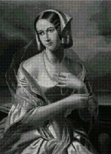 mujer_collar_perlas_punto_de_cruz
