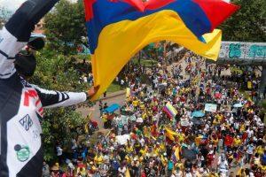 Protestas del 1 de Mayo contra la Reforma Tributaria en Cali, Colombia.   Foto: France 24.